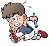 Мальчик бегуна иллюстрация вектора