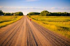 Мальчик бежать в сельскую местность Стоковые Фото