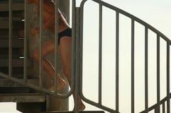 Мальчик бежит вверх Стоковые Фотографии RF