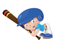 Мальчик бейсбола улыбки Стоковое Изображение
