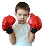 мальчик боксера немногая Стоковое фото RF