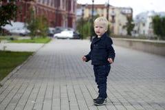мальчик блондинкы младенца Стоковые Изображения