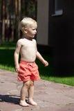 мальчик блондинкы младенца Стоковые Фотографии RF