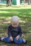 мальчик блондинкы младенца Стоковая Фотография RF