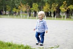 мальчик блондинкы младенца Стоковое фото RF