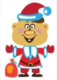 Мальчик вектора одетый как Санта Клаус на белизне Стоковое Фото