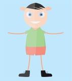 Мальчик вектора счастливый молодой Стоковые Изображения RF