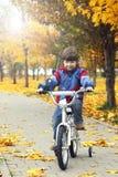 Мальчик велосипед Стоковое Изображение RF