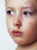 Мальчик взбитый близко вверх стоковое изображение rf