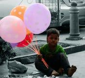 Мальчик воздушного шара Стоковое фото RF