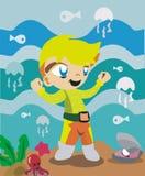 Мальчик воды Стоковое Фото