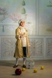 Мальчик в винтажных одеждах Стоковая Фотография RF