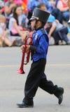 Мальчик в военном оркестре Стоковая Фотография