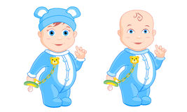 Мальчик в голубых пижамах Стоковая Фотография