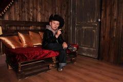 Мальчик в изображении ковбоя Стоковое Изображение RF