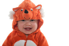 Мальчик в костюме лисы Стоковые Фотографии RF