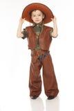 Мальчик в костюме ковбоя Стоковые Фотографии RF