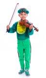 Мальчик в костюме кузнечика Стоковые Фотографии RF