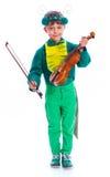 Мальчик в костюме кузнечика Стоковое фото RF