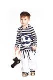 Мальчик в костюме матроса Стоковая Фотография