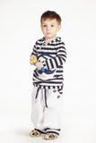 Мальчик в костюме матроса Стоковые Изображения RF
