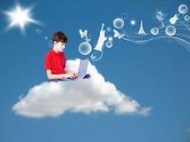 Мальчик в мечт стране Стоковая Фотография RF