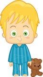 Мальчик в пижамах Бесплатная Иллюстрация