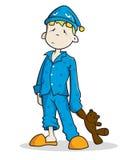 Мальчик в пижаме Стоковое Фото