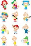 Мальчик в различных изображениях Стоковые Фотографии RF