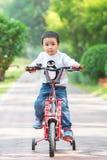 Мальчик едет велосипед Стоковое Изображение RF