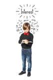 мальчик заинтересованный немногая Стоковое Фото