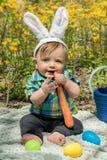Мальчик зайчика Стоковые Фотографии RF