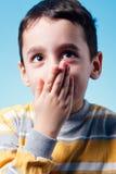 мальчик застенчивый Стоковое Изображение