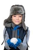 Мальчик зимы Стоковое Фото