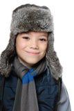 Мальчик зимы Стоковое Изображение RF