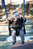 мальчик играя качание Стоковое Изображение RF