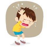 Мальчик имеет головную боль Стоковое Изображение