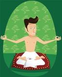 Мальчик инструктора йоги Стоковые Фотографии RF