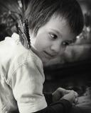 Мальчик и бабочка Стоковые Фотографии RF