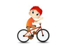 Мальчик и велосипед Стоковое Фото