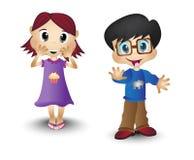 Мальчик и девушка, дети, дети Стоковая Фотография RF