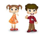 Мальчик и девушка, дети, дети Стоковые Изображения RF