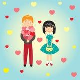 Мальчик и девушка Стоковые Фотографии RF