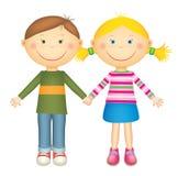 Мальчик и девушка иллюстрация вектора