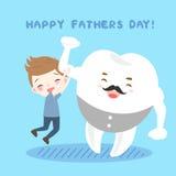Мальчик и зуб шаржа Стоковые Изображения RF