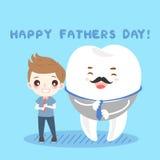 Мальчик и зуб шаржа Стоковая Фотография