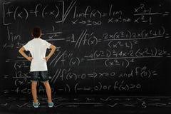 Мальчик и математики Стоковые Фотографии RF