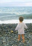 Мальчик и море Стоковая Фотография