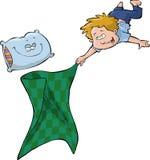 Мальчик и одеяло Стоковые Фотографии RF
