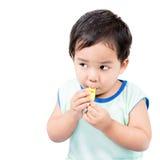 Мальчик и свисток Стоковые Фотографии RF
